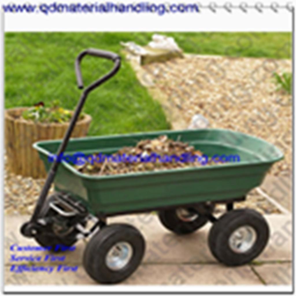 75L Heavy Duty Garden Dump Truck Tipping Trailer Trolley Cart Wheelbarrow 250kgs