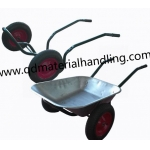Dual Wheel Steel Wheelbarrow Wb6406︱Russia wheelbarrow︱ two wheel wheelbarrow