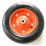 "13""x3"" wheel barrow solid rubber wheel"