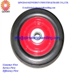 "6""x1.5"" Solid Rubber Wheel Trolley Wheel With Steel Rim 16mm Bore Bearing"