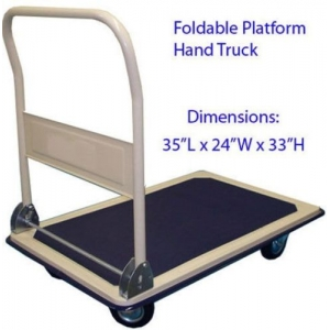 Heavy Duty Foldable Platform Hand Truck With 300kgs capacity