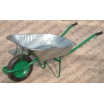 Popular Russian Market Wheelbarrow with Galvnized Tray