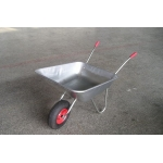 Zinc tray lightweight single wheel garden wheelbarrow