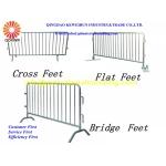 Galvanized Temporary Pedestrian Barrier | Crowd Control Barrier