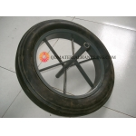 16 Inch Solid Rubber Wheel for Wheelbarrow