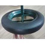 "14""X4"" Rubber Solid Wheel for Wheel Barrow"