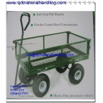 Mesh Sided Platform Truck 250Kg Capacity garden utility trailer cart