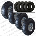 "10""x350-4 Pneumatic Rubber Wheel"
